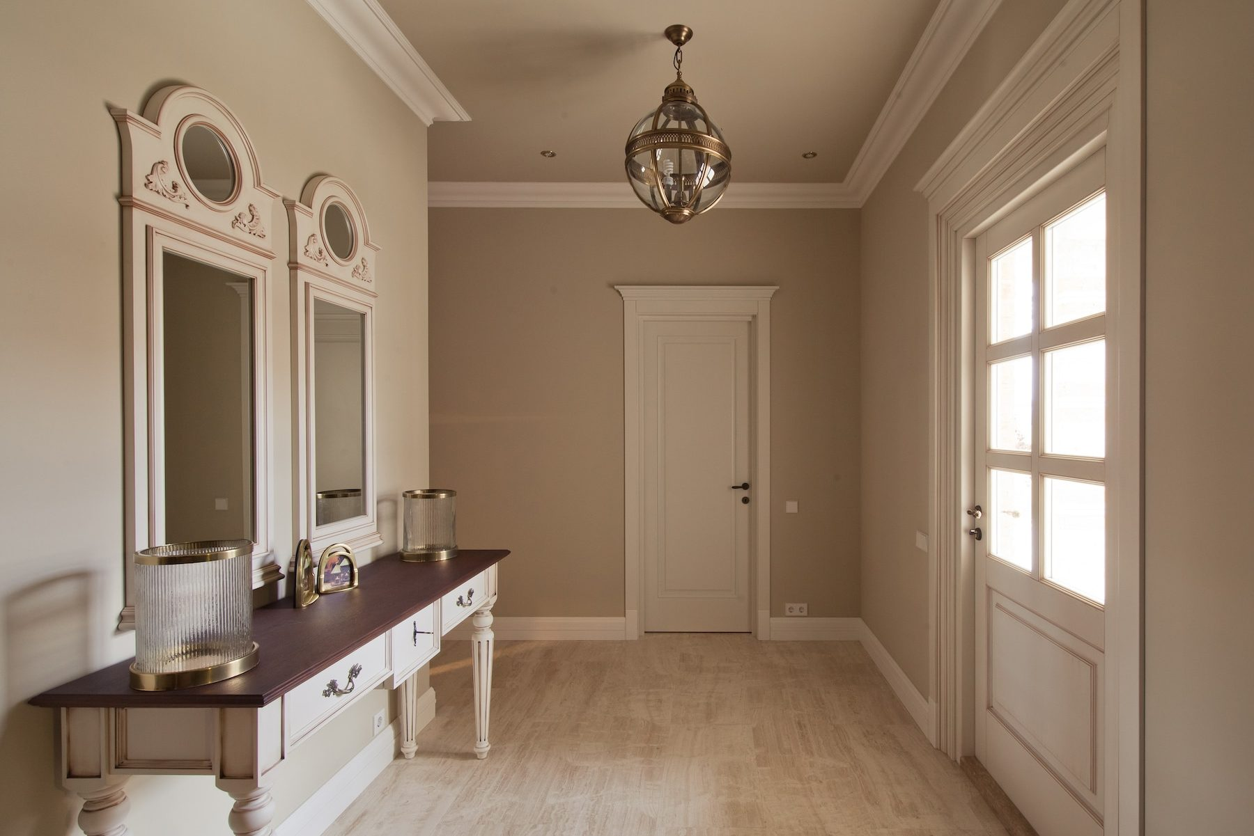 Couloir à la décoration vintage