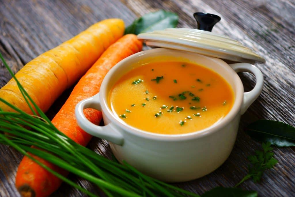 Soupe maison aux carottes